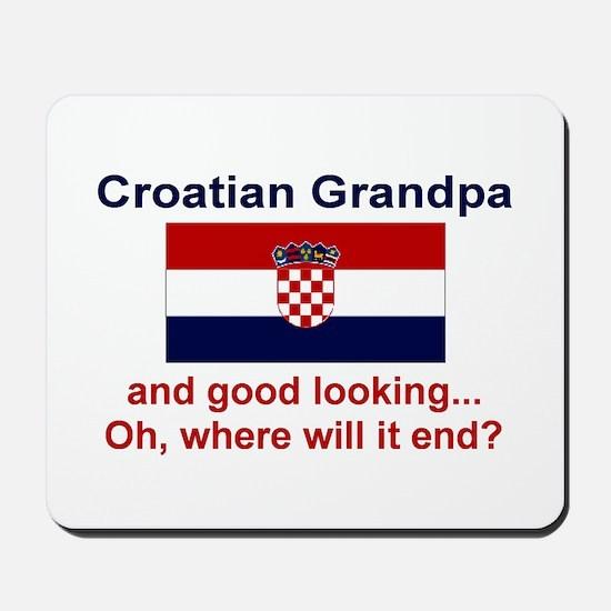 Good Looking Croatian Grandpa Mousepad