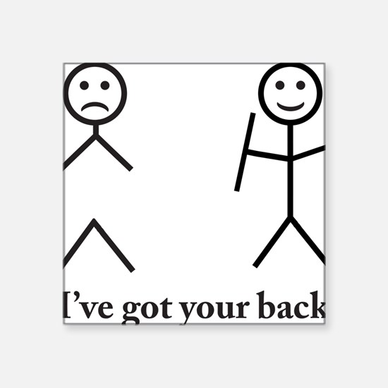 "i got your back cu ochi Square Sticker 3"" x 3"""