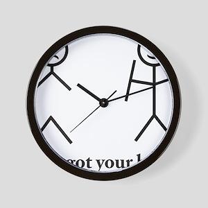 i got your back cu ochi Wall Clock