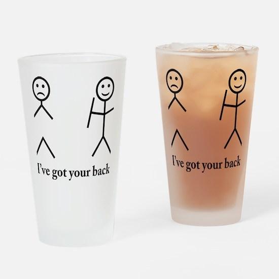 i got your back cu ochi Drinking Glass