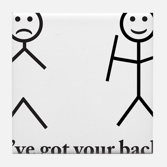 i got your back cu ochi Tile Coaster