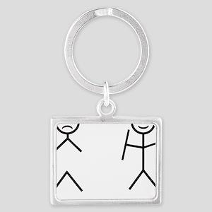 i got your back cu ochi Landscape Keychain