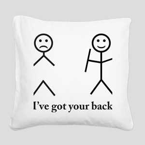 i got your back cu ochi Square Canvas Pillow