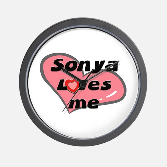 sonya loves me  Wall Clock