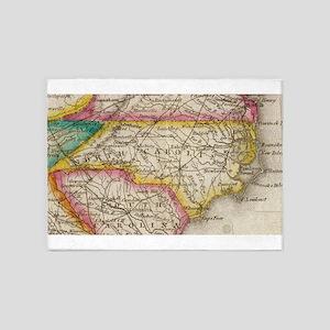 Vintage Map of North Carolina (1822 5'x7'Area Rug