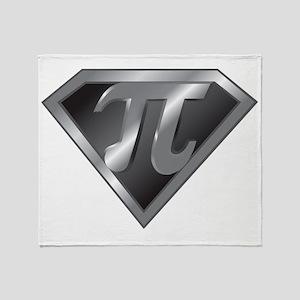 Super Pi - math super hero Throw Blanket