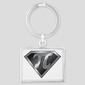 Super Pi - math super hero Landscape Keychain