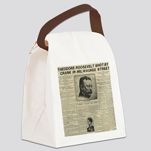 TR SHOT BY CRANK NY HERALD BIG Canvas Lunch Bag