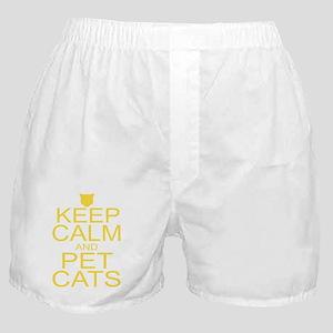 keepCALM-petcats-yllr Boxer Shorts