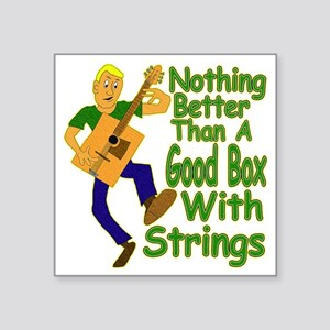 "BoxWithStrings Square Sticker 3"" x 3"""