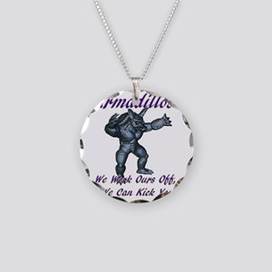 armadillo1 Necklace Circle Charm