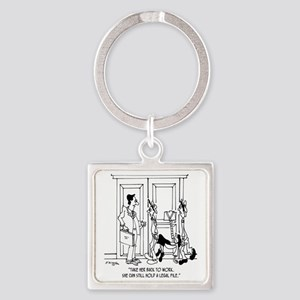 7344_law_cartoon Square Keychain