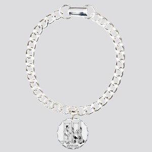 7344_law_cartoon Charm Bracelet, One Charm