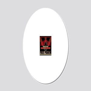 Hunger Games Revolution 3 20x12 Oval Wall Decal