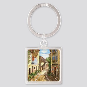 queenprovence Square Keychain