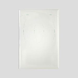 Kobe City (white) Rectangle Magnet