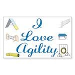 I Love Agility 2 Rectangle Sticker