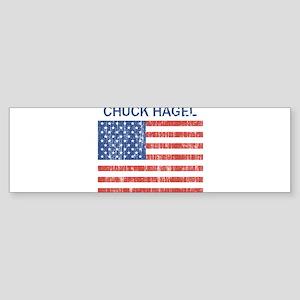 CHUCK HAGEL (Vintage flag) Bumper Sticker