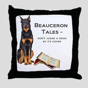 Beauceron Tales Throw Pillow