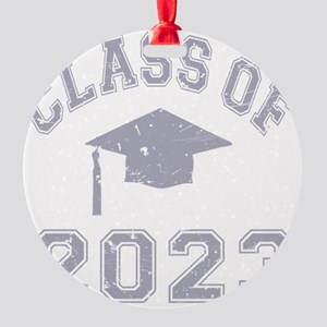 Class Of 2023 Graduation - Grey 2 Round Ornament