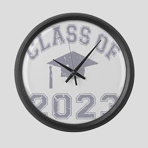 Class Of 2023 Graduation - Grey 2 Large Wall Clock
