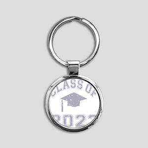 Class Of 2023 Graduation - Grey 2 Round Keychain
