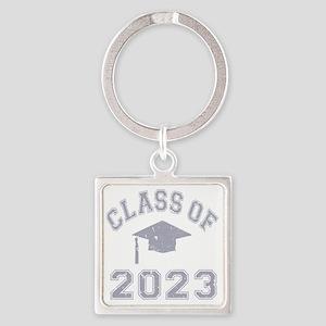 Class Of 2023 Graduation - Grey 2 Square Keychain