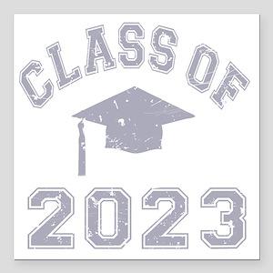"Class Of 2023 Graduation Square Car Magnet 3"" x 3"""