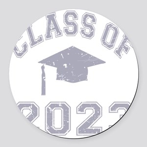 Class Of 2023 Graduation - Grey 2 Round Car Magnet