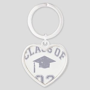 Class Of 2022 Graduation - Grey 2 Heart Keychain