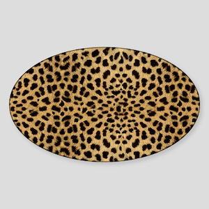 leopardprintlaptop Sticker (Oval)