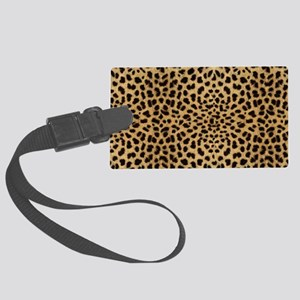 leopardprintlaptop Large Luggage Tag