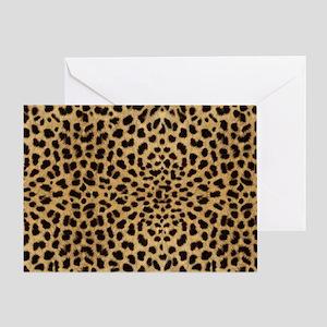 leopardprintlaptop Greeting Card