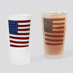 Patrotic flag poster note card Drinking Glass