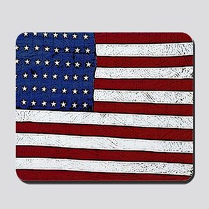 Patrotic flag poster note card Mousepad