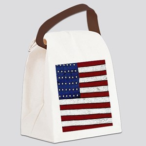Patrotic flag poster note card Canvas Lunch Bag