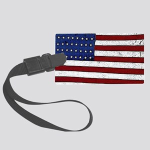 Patrotic flag poster note card Large Luggage Tag