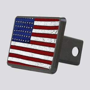 Patrotic flag poster note  Rectangular Hitch Cover
