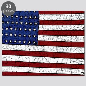 Patrotic flag poster note card Puzzle