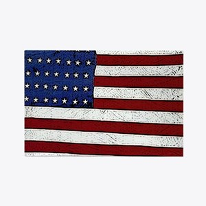 Patrotic flag poster note card Rectangle Magnet