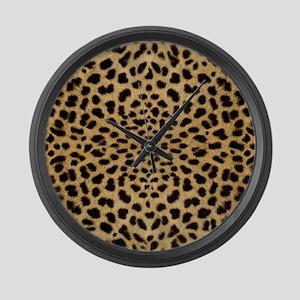 leopardprint4000 Large Wall Clock