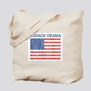BARACK OBAMA (Vintage flag) Tote Bag