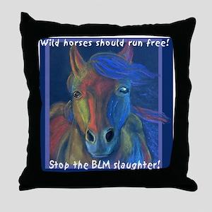 horse1T Throw Pillow