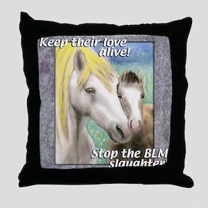 horsemnbT Throw Pillow