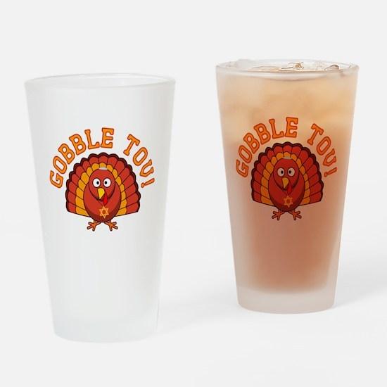 Gobble Tov Thanksgivukkah Turkey Drinking Glass