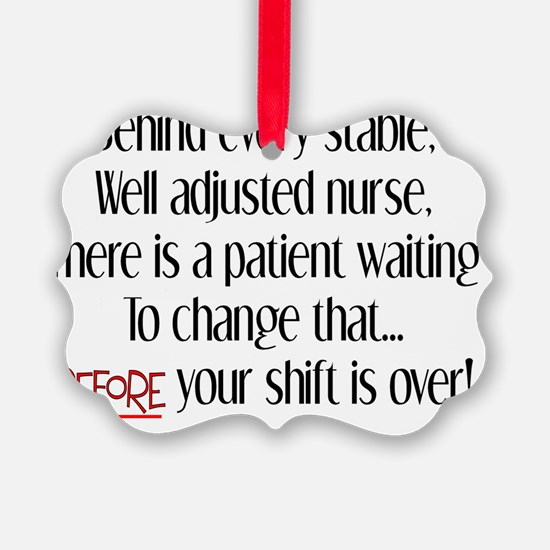 Behind every stable nurse 2 Ornament