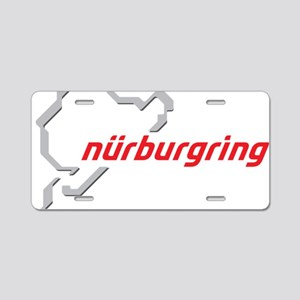 nurburgring map real Aluminum License Plate