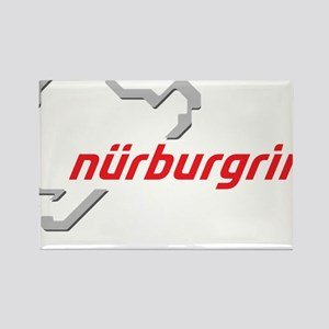 nurburgring map real Rectangle Magnet