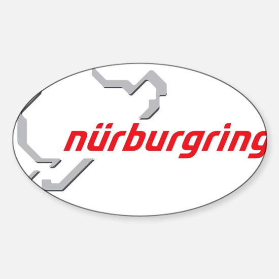 nurburgring map real Sticker (Oval)