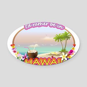 HAWAII 2 Oval Car Magnet